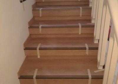 חיופי מדרגות בפרקט למינציה בית פרטי